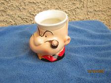 1980 Vintage King Features Popeye Ceramic Mug Cup