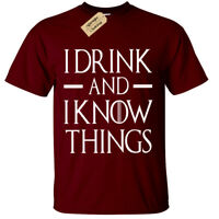 I DRINK AND I KNOW THINGS Mens game T Shirt S-5XL BIG funny thrones of tyrion
