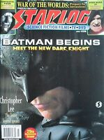 BATMAN BEGINS  July 2005 Starlog  FANTASTIC FOUR  STAR WARS III  CHRISTOPHER LEE