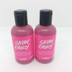 Lush Snow Fairy Shower Gel 2 x 100ml Bottles New Exp 27/01/22 Vegan Cruelty Free
