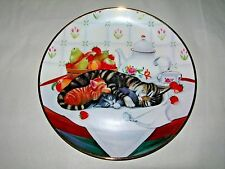 Cat Nap Franklin Mint Heirloom Collector's Plate by Turi MacCombie Coa Kittens