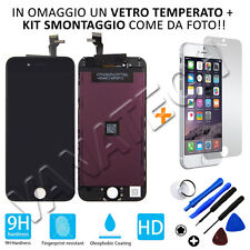 "TOUCH SCREEN FRAME LCD DISPLAY RETINA VETRO LCD APPLE IPHONE 6 NERO 4,7"" 6G GLS"