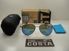 COSTA DEL MAR COOK POLARIZED COO126 OBMGLP SUNGLASSES GOLD FRAME/BLUE 580G GLASS