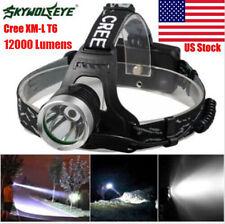SKYWOLFEYE 12000lm Cree Xml T6 3 Modes 18650 LED Headlamp Headlight Outdoor Lamp