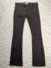 Free People Trousers Brown Straight Leg Button Down Denim Jeans Size 6 EUC