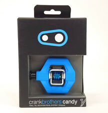 Crank Brothers Candy 1 Clipless Bike XC Trail Pedals & Cleats Bros BLUE