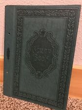Antique Green Leather Embossed Scrapbook Cover SPFD Photo Mount Comany NOS