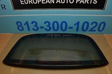 03-09 W209 MB CLK350 CLK550 CLK320 CLK500 CONVERTIBLE REAR TOP WINDOW GLASS