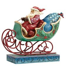 Jim Shore Heartwood Creek - Enjoy the Ride Santa - Weihnachtsmann - NEU
