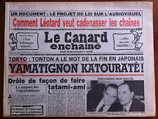 Le Canard Enchaîné 7/05/1986; Comment Léotard veut Cadenasser les Chaînes télé