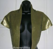 PRINCIPLES GOLD  SEQUIN SHRUG SIZE EXTRA LARGE