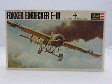 Revell FOKKER EINDECKER E-III WWI 1/72 Scale Plastic Model Kit STARTED 1965