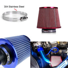 "2 PC 3""75mm Car Air Intake Filter Mushroom Head Flow Cleaner Dual Funnel Adapter"