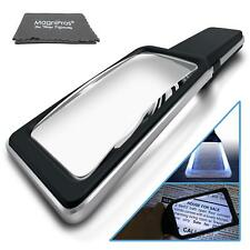 3X Large Horizontal Handheld Magnifying Glass with 10 Anti Glare Dimmable LEDs