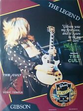 """The Cult """"Billy Duffy - Gibson Guitars"""" U.S. Promo Poster - Sonic Temple Era"""