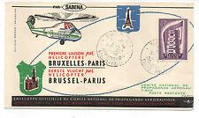 Belgique 1957 vol en hélicoptère à paris