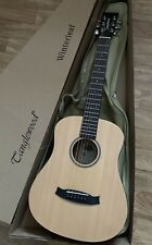 RRP £229 Travel Electro Acoustic Guitar  with tuner preamp +£29 Gig bag 3/4 size