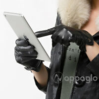 Nappaglo Women Real Italian Lambskin Leather Gloves Touch screen Cashmere Lining