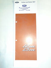 Ford 12M & 15M Colours & Upholstery brochure 1967 German text
