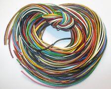 23 Bänder,je 1 Meter. 1 mm -  in verschiedene Farben,   Lederband, Lederschnur