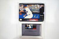 Nolan Ryan's Baseball SNES Super Nintendo Game with Box Tested-Free Shipping