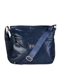 Leather Metallic Blue Bags & Handbags for Women