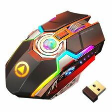 Wireless Gaming Mouse Rechargeable Gaming Mouse Silent Ergonomic 7 Keys Rgb