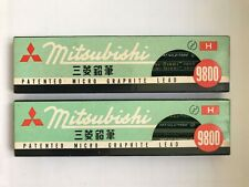 "2 x 12 VINTAGE MITSUBISHI PENCILS: ""9800"" H - MADE IN JAPAN, UNUSED, NOS"