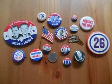 Nixon, Humphrey, FDR, Goldwater, Ike Etc - PRESIDENTIAL CAMPAIGN BUTTONS LOT