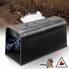 Electronic Voltage Rat Trap Electric Shocking Mice Mouse Rodent Killer Plastic