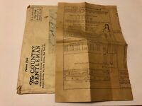 Antique Vintage Country Gentleman Woman's Slip Dress Pattern w Envelope 1931