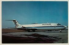 Vintage Postcard Altair Airlines McDonnell Douglas Dc-9 airplane (Mary Jayne's)