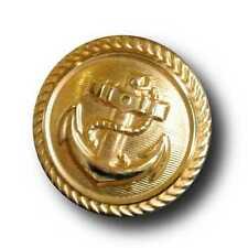 6 autentica leggeri goldfb. Marine Uniform bottoni in metallo lamiera (0150go)