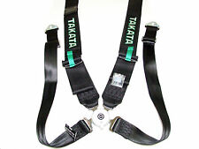 "Takata RACE 4 Point Snap-On 3"" Racing Seat Belt Harness with Camlock (Black)"