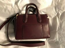 J Crew Small Burgundy CrossBody Handbag with Dust Bag and Care Card NWOT