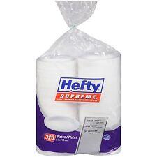 "Hefty Supreme Foam Plates 6"" Heavy Weight Soak Proof Disposable - 320 ct."