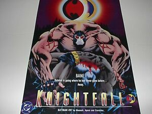 DC COMICS BATMAN KNIGHTFALL BANE BACK BREAKER #497 POSTER PIN UP NEW