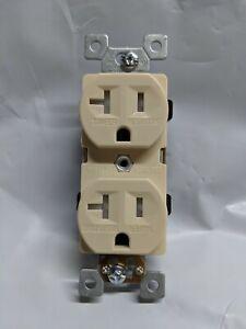 100 pc 20A Standard Duplex Receptacles 20 Amp Outlets IVORY Tamper Resistant TR