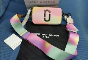 BNWT Marc Jacobs Logo Strap Snapshot Airbrush Camera Cross Body Bag