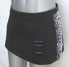 Ripped Mini Skirt with Black & White Animal Print  UK  size 10  Punk Alternative