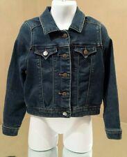 Tractr Girls Dark Blue Denim Jean Jacket Size 4