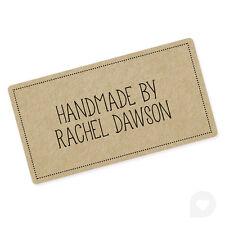Personalised Handmade By Business Kraft Inspired Labels Stickers Vintage - 202