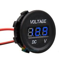 12V-24V Car Motorcycle Digital LED Panel Voltage Volt Meter Display Voltmeter A