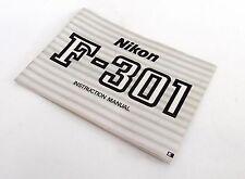 Nikon F-301 Instruction Manual ::FREE UK POST:: 1368