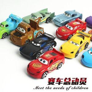 6Pcs Pixar Cars No.95 Lightning McQueen Pull Back Model Plastic Car Vehicle Toys
