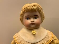 Antique German? Parian c1870s Bisque Doll Head & Shoulders  Molded Hair 20""
