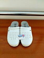 "Gezer ""SABO"" flat comfy nurse shoes white NOS"