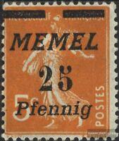 Memelgebiet 58 postfrisch 1922 Freimarken