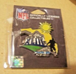 Super Bowl 43 XLIII logo player Florida lapel pin w/ date