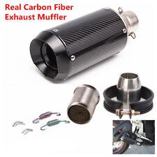 Motorcycle 51mm Exhaust Muffler Pipe w/ DB Killer Slip on Carbon Fiber Stainless